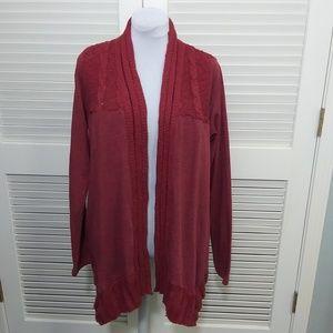 Lucky Lotus Long Sleeve Knit Cardigan w Pockets